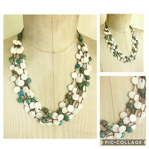 JAY KING DTR MOP Turquoise Statement Necklace